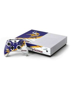 Minnesota Vikings Xbox One S Console and Controller Bundle Skin