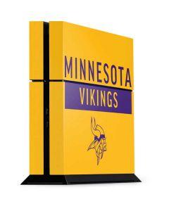 Minnesota Vikings Yellow Performance Series PS4 Console Skin