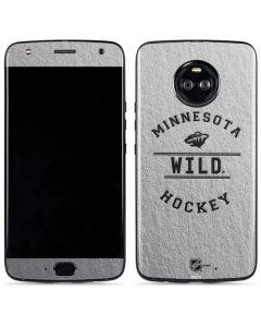 Minnesota Wild Black Text Moto X4 Skin