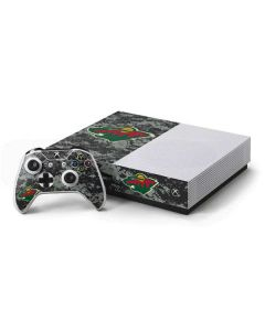 Minnesota Wild Camo Xbox One S Console and Controller Bundle Skin