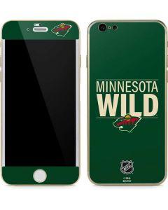 Minnesota Wild Lineup iPhone 6/6s Skin
