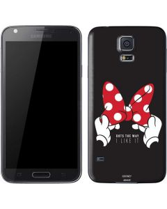 Minnie Mouse Dots The Way Galaxy S5 Skin