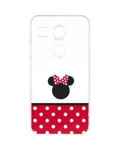 Minnie Mouse Symbol Google Nexus 5X Clear Case