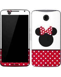 Minnie Mouse Symbol Google Nexus 6 Skin