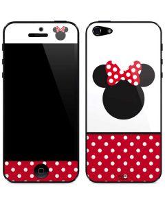 Minnie Mouse Symbol iPhone 5/5s/SE Skin