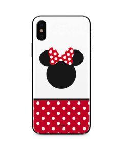 Minnie Mouse Symbol iPhone X Skin