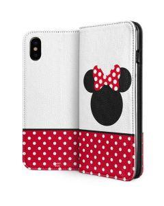 Minnie Mouse Symbol iPhone XS Folio Case