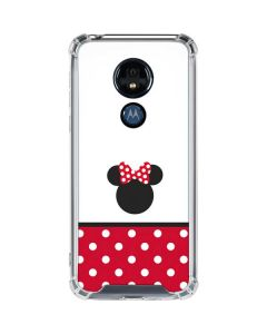 Minnie Mouse Symbol Moto G7 Power Clear Case