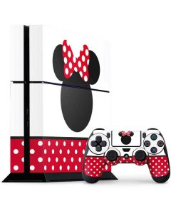 Minnie Mouse Symbol PS4 Console and Controller Bundle Skin
