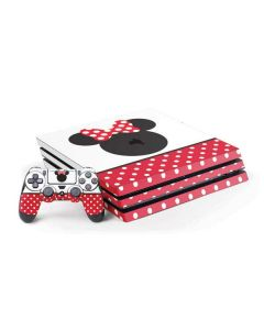 Minnie Mouse Symbol PS4 Pro Bundle Skin