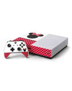 Minnie Mouse Symbol Xbox One S Console and Controller Bundle Skin