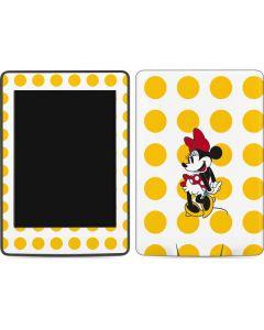 Minnie Mouse Yellow Dots Amazon Kindle Skin