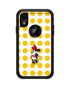 Minnie Mouse Yellow Dots Otterbox Defender iPhone Skin