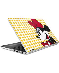 Minnie Mouse Yellow Dots HP Pavilion Skin