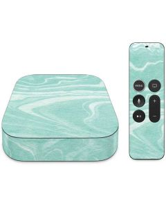 Mint Marbling Apple TV Skin
