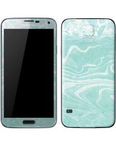 Mint Marbling Galaxy S5 Skin