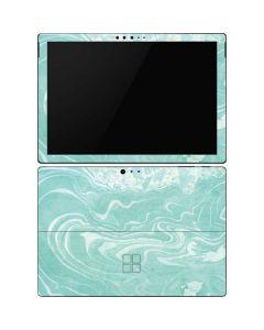 Mint Marbling Surface Pro 6 Skin