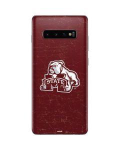 Mississippi State Bulldogs Distressed Galaxy S10 Plus Skin