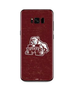 Mississippi State Bulldogs Distressed Galaxy S8 Skin