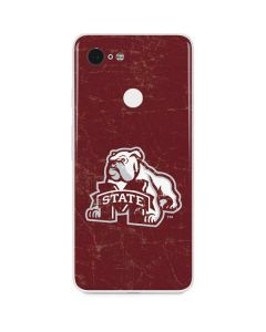 Mississippi State Bulldogs Distressed Google Pixel 3 Skin
