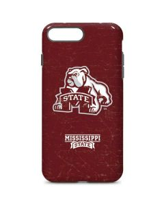 Mississippi State Bulldogs Distressed iPhone 8 Plus Pro Case