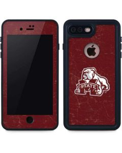 Mississippi State Bulldogs Distressed iPhone 8 Plus Waterproof Case