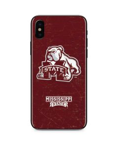 Mississippi State Bulldogs Distressed iPhone X Skin