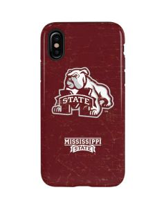 Mississippi State Bulldogs Distressed iPhone XS Pro Case