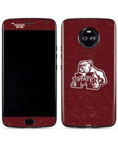 Mississippi State Bulldogs Distressed Moto X4 Skin
