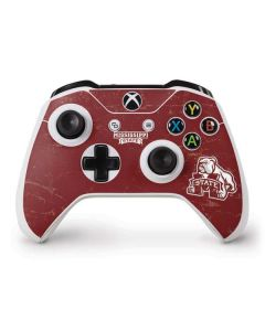 Mississippi State Bulldogs Distressed Xbox One S Controller Skin