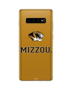 Mizzou Mascot Gold Galaxy S10 Plus Skin