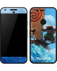Moana and Maui Ride the Wave Google Pixel Skin