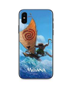 Moana and Maui Ride the Wave iPhone X Skin