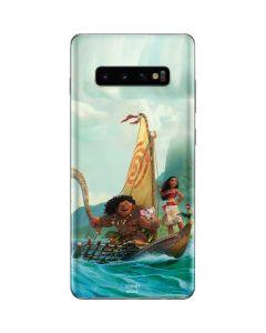 Moana and Maui Set Sail Galaxy S10 Plus Skin