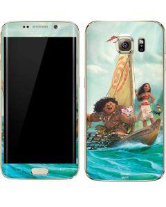 Moana and Maui Set Sail Galaxy S7 Edge Skin