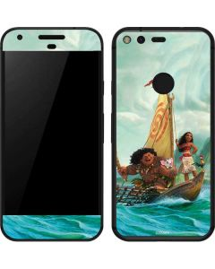 Moana and Maui Set Sail Google Pixel Skin