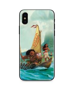 Moana and Maui Set Sail iPhone X Skin