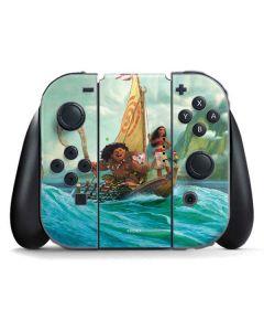 Moana and Maui Set Sail Nintendo Switch Joy Con Controller Skin