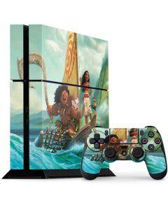 Moana and Maui Set Sail PS4 Console and Controller Bundle Skin