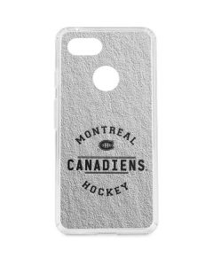 Montreal Canadiens Black Text Google Pixel 3 Clear Case