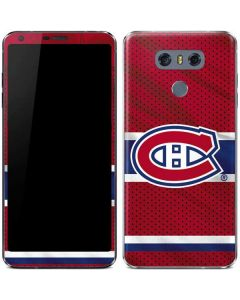 Montreal Canadiens Home Jersey LG G6 Skin
