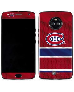 Montreal Canadiens Home Jersey Moto X4 Skin