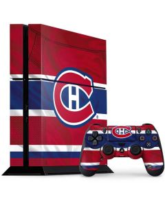 Montreal Canadiens Home Jersey PS4 Console and Controller Bundle Skin