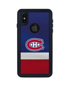 Montreal Canadiens Jersey iPhone X Waterproof Case