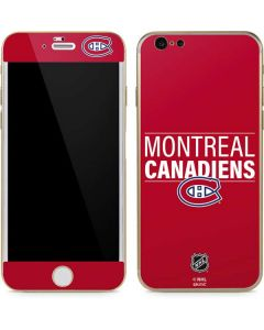 Montreal Canadiens Lineup iPhone 6/6s Skin