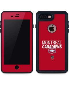 Montreal Canadiens Lineup iPhone 7 Plus Waterproof Case