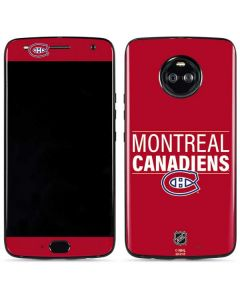 Montreal Canadiens Lineup Moto X4 Skin