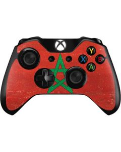 Morocco Flag Distressed Xbox One Controller Skin