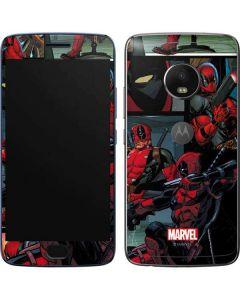 Deadpool Comic Moto G5 Plus Skin