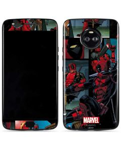 Deadpool Comic Moto X4 Skin